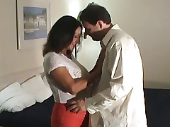 mom and son in hotel : mature cumshot