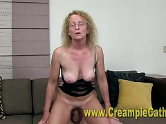 mom son creampie : great blowjob, pussy cumshots