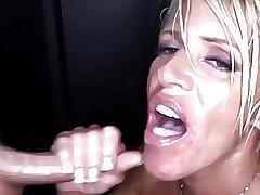 gloryhole mom : cumshots compilation
