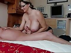 mom tit job : hot horny pussy